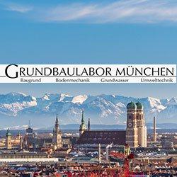 Panorama Blick über München mit Grundbaulabor München Logo