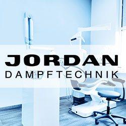 Dentallabor im Vordergrund der Schriftzug von Jordan Dampftechnik