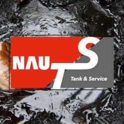 Schweröl, im Vordergrund das Logo von NAU Tank & Service