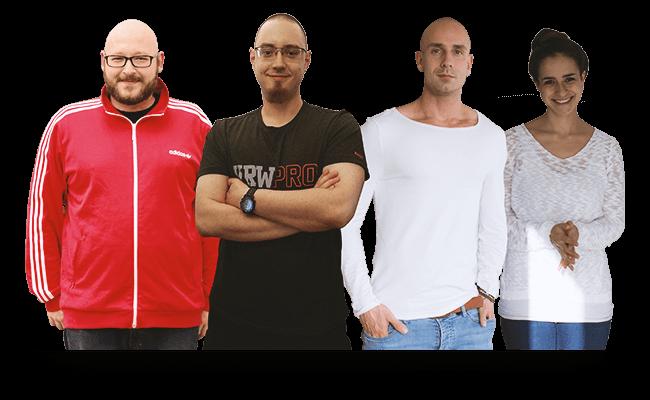 Teambild von eikoon mit: Steffan, Tobi, Erik und Jessi