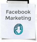 """Blockblatt mit Karos und Aufschrift """"Facebook Marketing"""""""