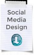 """Blockblatt mit Karos und Aufschrift """"Social Media Design """""""