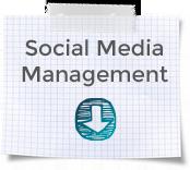 """Blockblatt mit Karos und Aufschrift """"Social Media Management """""""