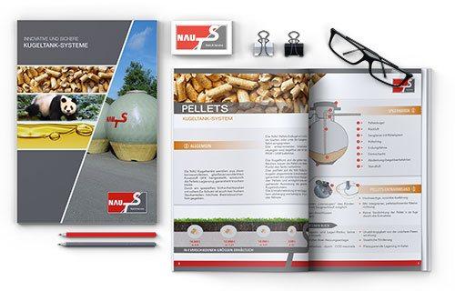 Produktbroschüre von NAU TS mit Kugeltanksystemen