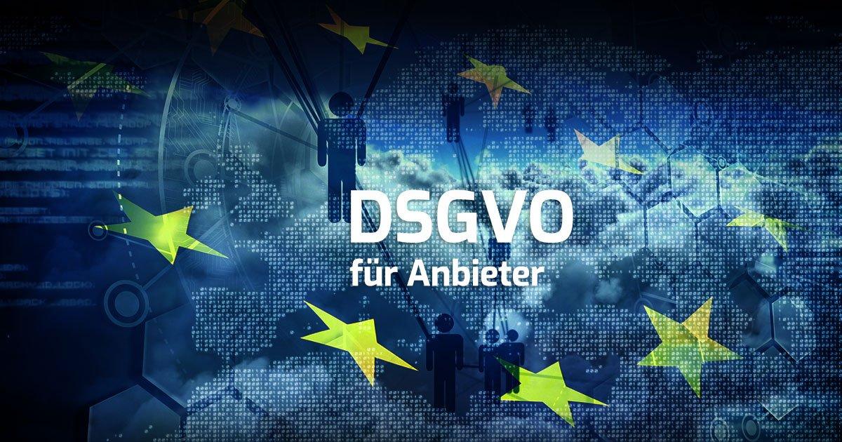 DSGVO für Anbieter Titelbild