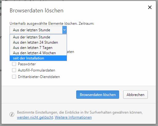 Opera Browser Browserdaten löschen