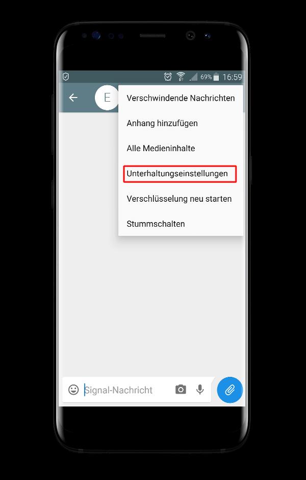 Signal Messenger Unterhaltungseinstellungen