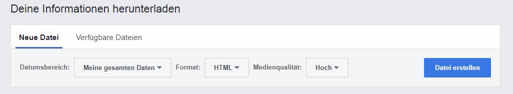 Deine Daten von Facebook nach der DSGVO herunterladen