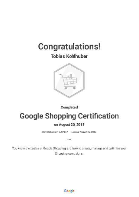google-shopping-certifikation
